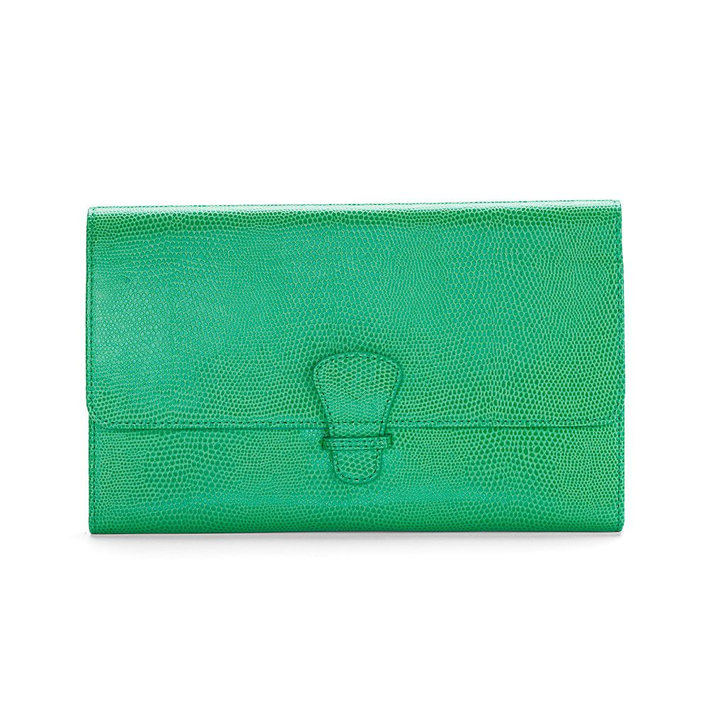 Aspinal of London Classic travel wallet Grass