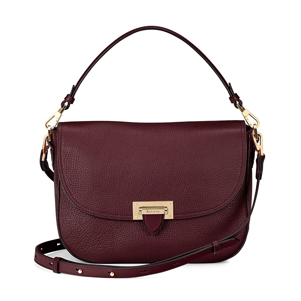 Aspinal of London Aspinal of London Letterbox slouchy saddle bag, Bordeaux