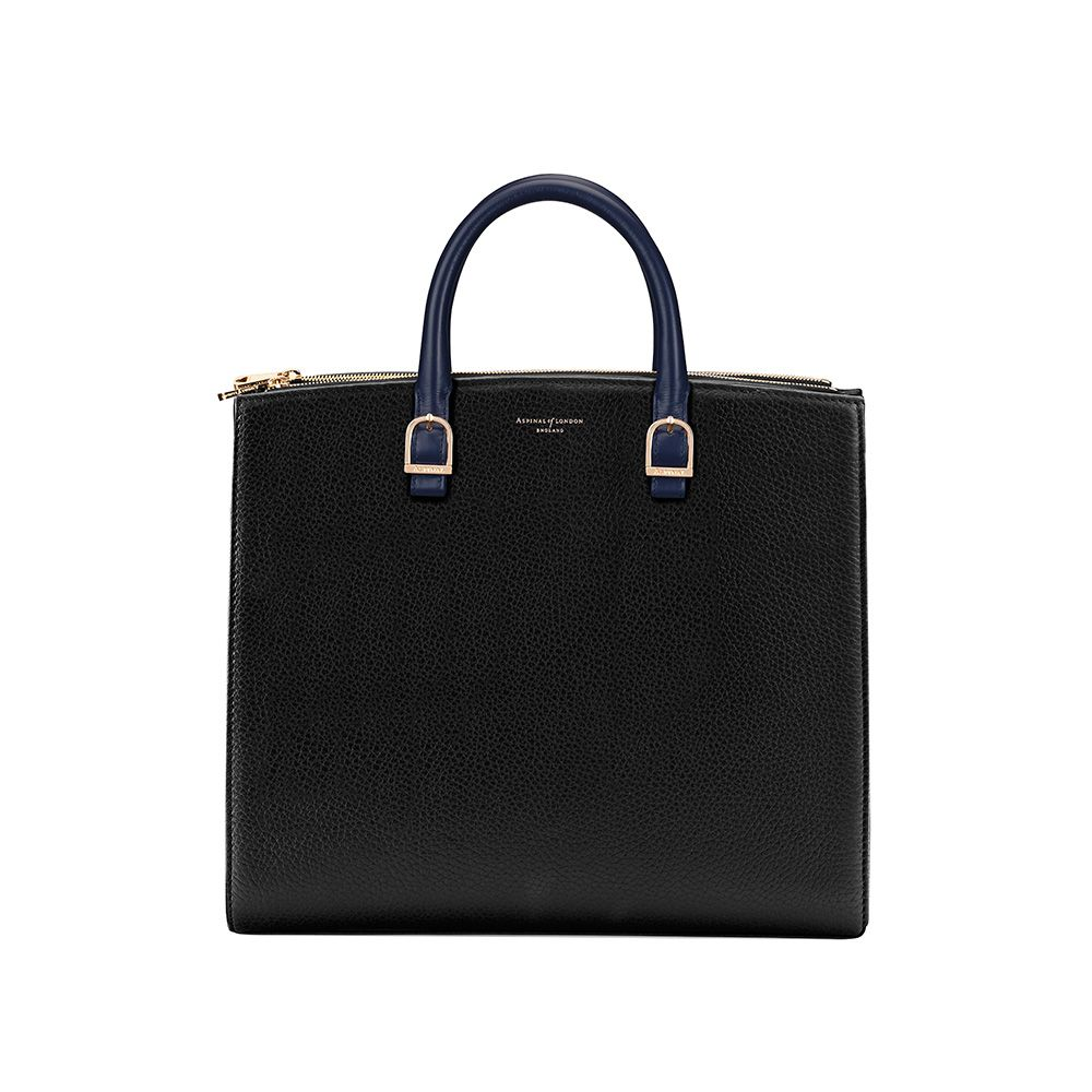Aspinal of London Aspinal of London Editors tote bag, Black & Blue