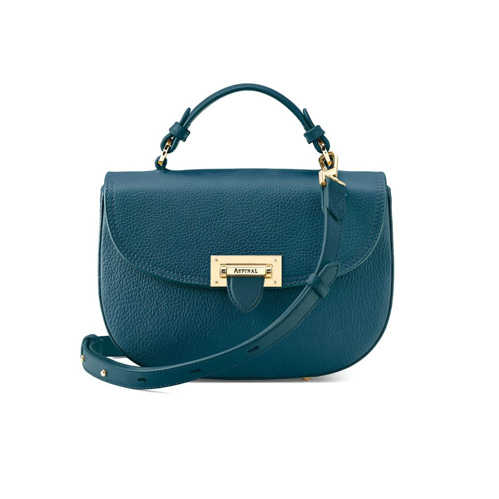 Aspinal of London Aspinal of London Letterbox saddle bag, Peacock Blue