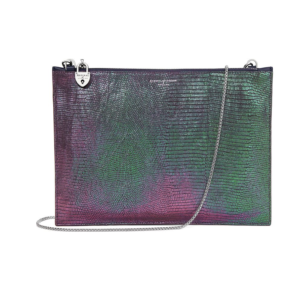 Aspinal of London Aspinal of London Soho pouch, Green
