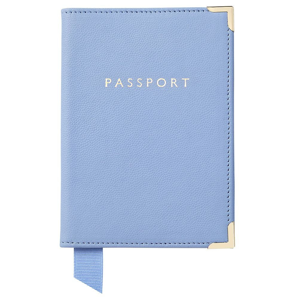 Aspinal of London Aspinal of London Passport cover, Blue