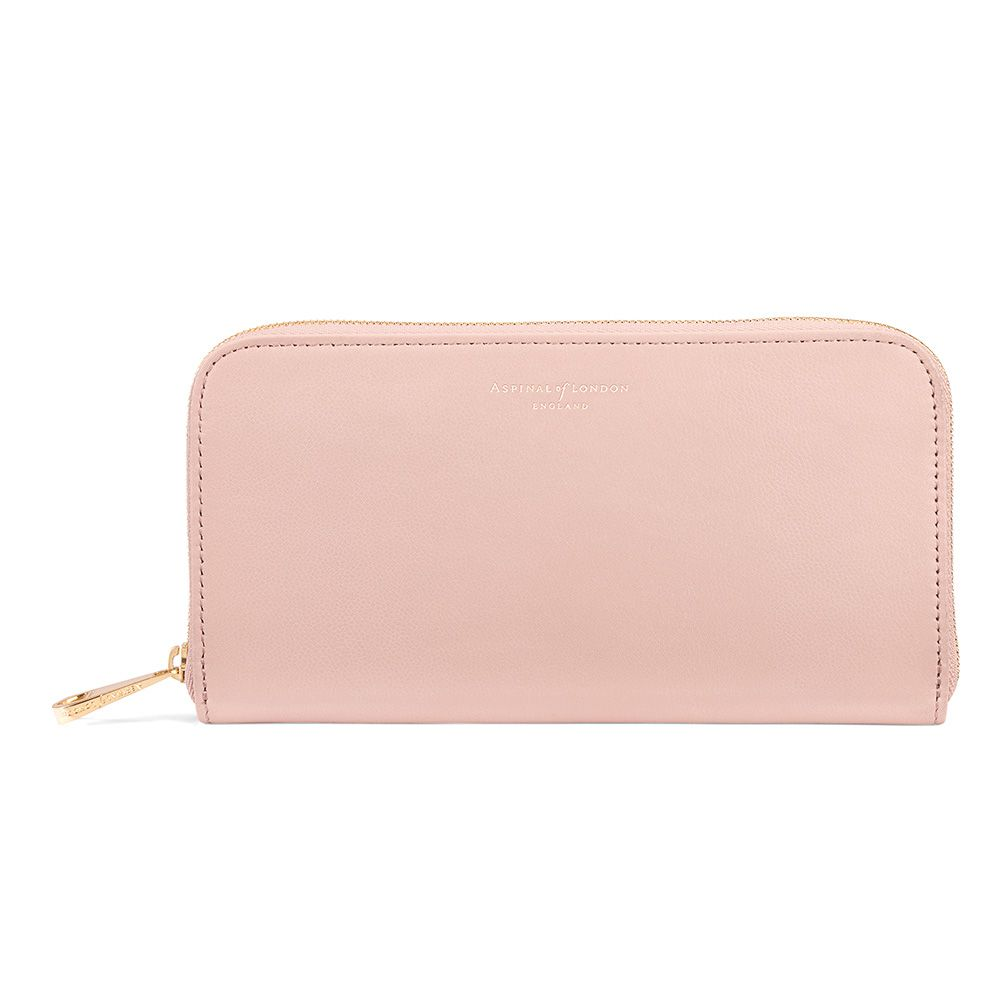 Aspinal of London Aspinal of London Continental clutch wallet, Peach