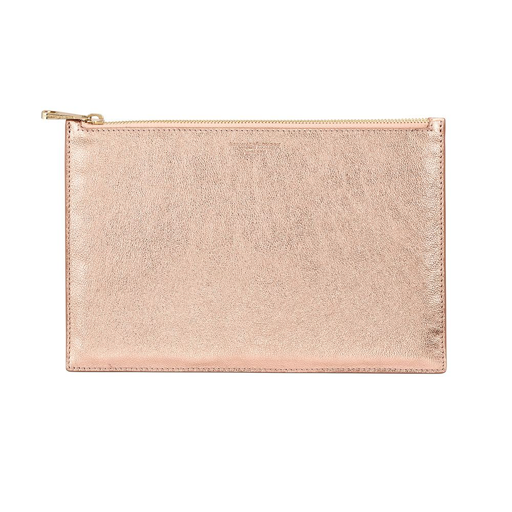 Aspinal of London Aspinal of London Essential pouch large, Rose Gold