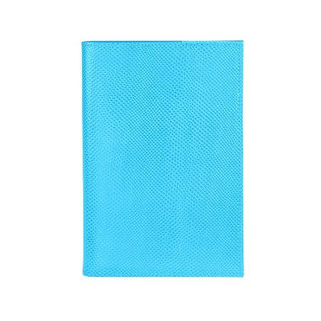 Aspinal of London Lizard refillable journal aquamarine A5
