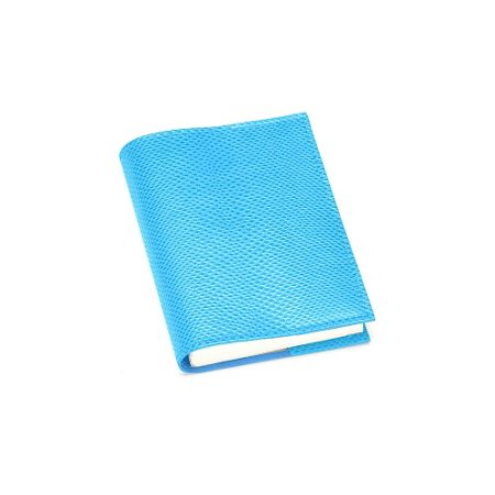 Aspinal of London Lizard refillable journal aquamarine A7