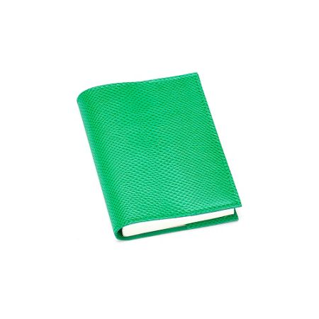 Aspinal of London Lizard refillable journal grass green A7