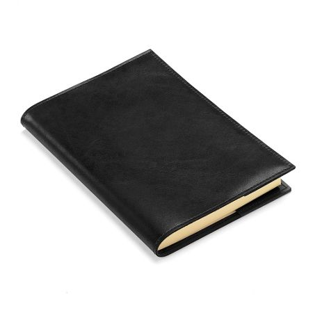 Aspinal of London Rustic refillable journal black ebl A5