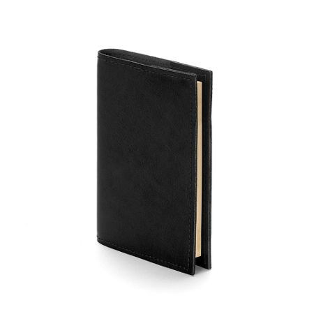 Aspinal of London Rustic refillable journal black ebl A7