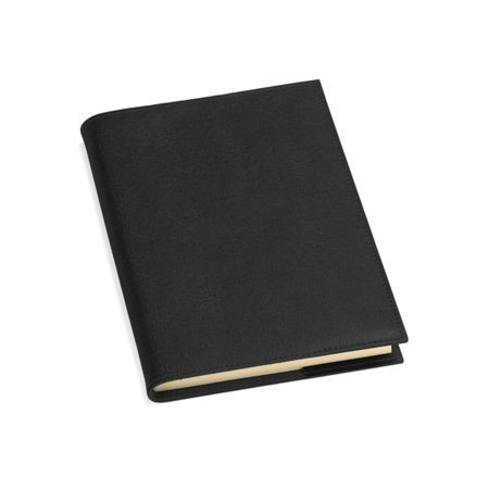 Aspinal of London Saffiano refillable journal black A5