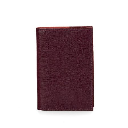 Aspinal of London Saffiano refillable journal burgundy A7