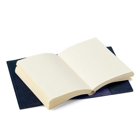 Aspinal of London Saffiano refillable journal navy A7