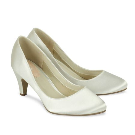 Paradox London Pink Affection round toe court shoes