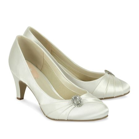 Paradox London Pink Harmony Round Toe Court Shoes