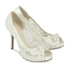 Paradox London Pink Zinnia lace platform shoes