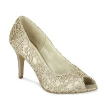 Cosmos lace peep toe shoes