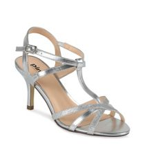 Paradox London Pink Glitter Georgina t-bar sandals