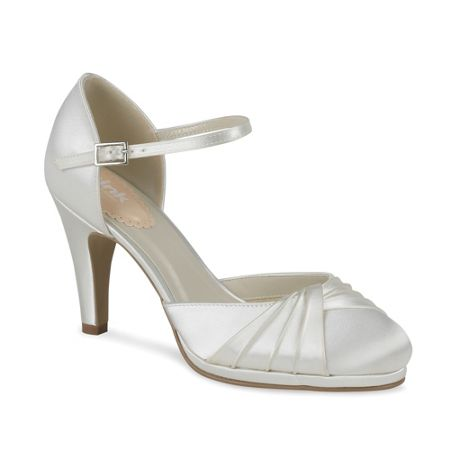 Paradox London Pink Two part pleated front platform shoes