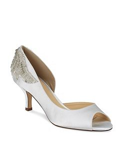 Mid Heel Finery Peep Toe Shoe