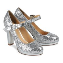 Round toe Ella sequin platform shoes