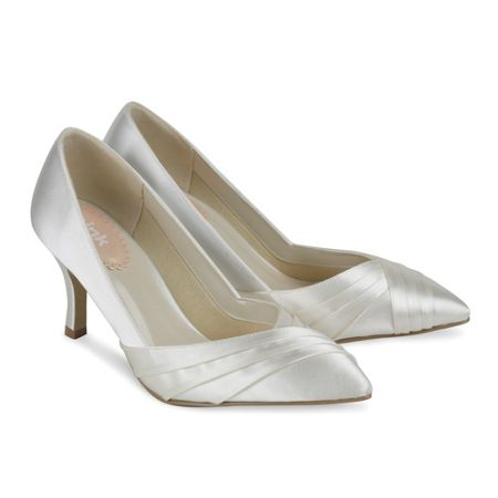 Paradox London Pink Pleated front classic court shoes