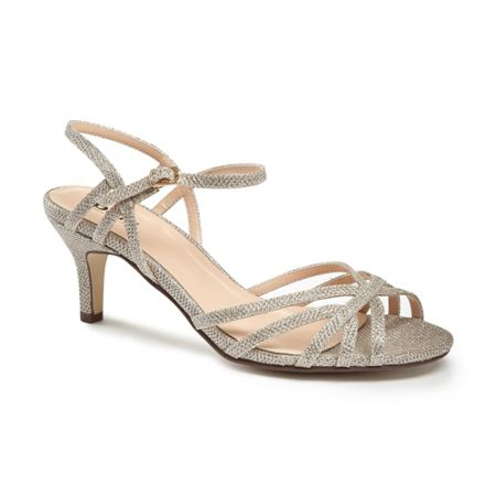 Paradox London Pink Harper two part mid heel sandals