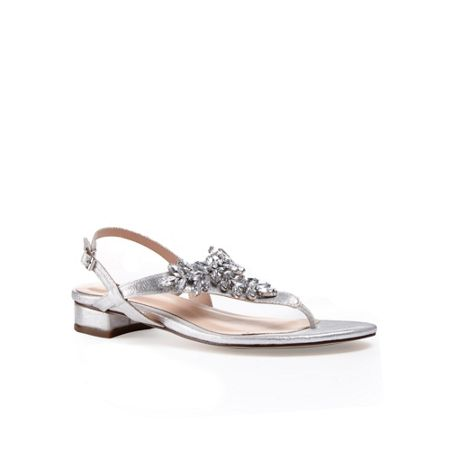 Paradox London Pink Embellished `Flame` diamante sandals