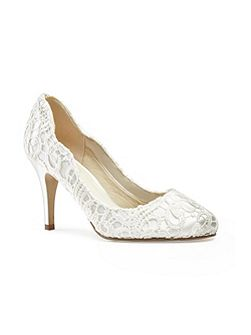 Lace covered `Eros` round toe shoes
