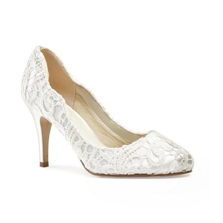 Paradox London Pink Lace covered `Eros` round toe shoes