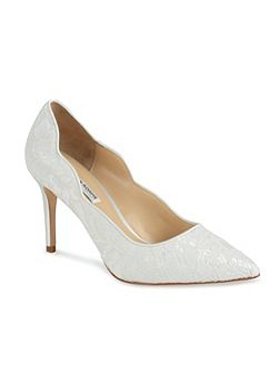 Classic Diana lace court shoes