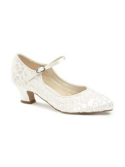 Vintage `Mermaid` Lace Mary-Jane shoes