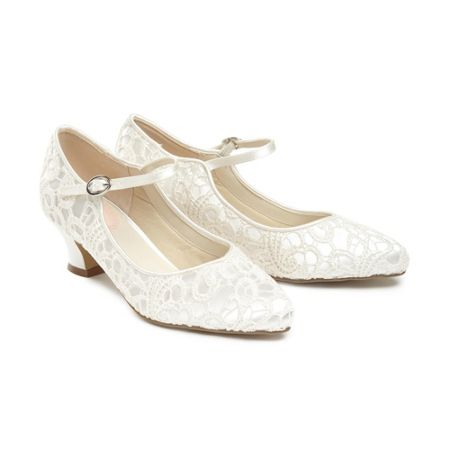 Paradox London Pink Vintage `Mermaid` Lace Mary-Jane shoes