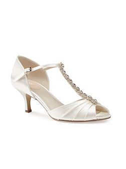 Fantasy jewelled t-bar heeled sandals