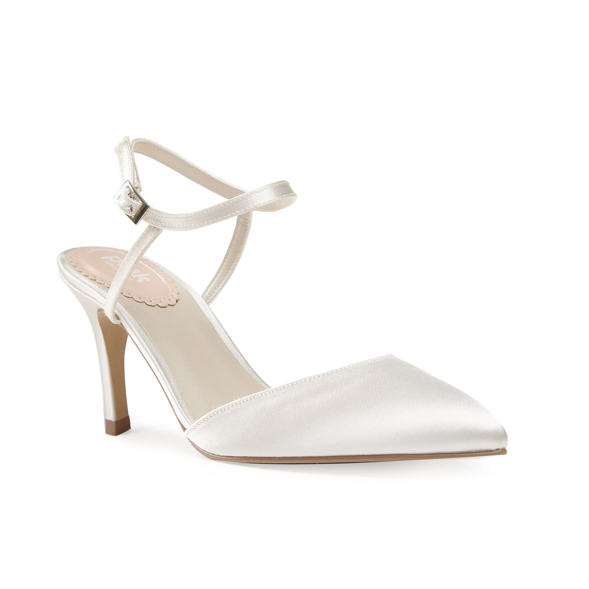 Paradox London Pink Paradox London Pink Honesty pointed toe d`orsay court shoes, Cream