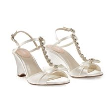 Paradox London Pink Sand jewelled wedge sandals