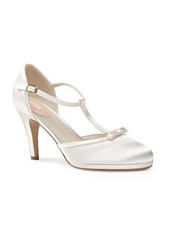 Misty platform t-bar court shoes