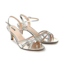 Paradox London Pink Harriet two part mid heel sandals