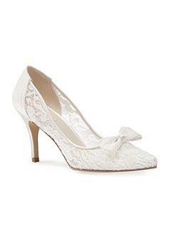 Promise mesh lace court shoes
