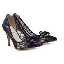 Paradox London Pink Promise mesh lace court shoes