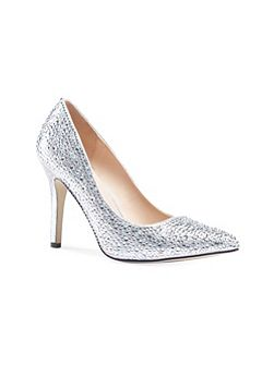 Aiesha crystal embellished court shoes