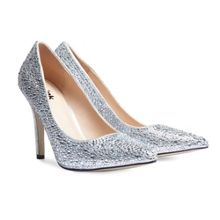 Paradox London Pink Aiesha crystal embellished court shoes