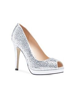 Cassidy crystal platform peep toe shoes