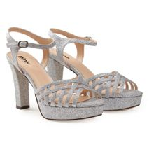 Paradox London Pink Petra glitter high heel sandals
