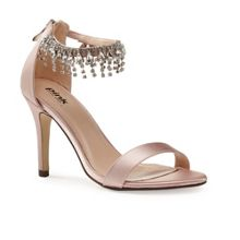 Paradox London Pink Tamara jewel ankle strap satin sandals