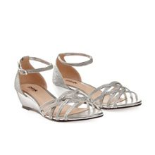 Paradox London Pink Avery strappy glitter wedge sandals