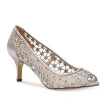 Paradox London Pink Breeze diamante peep toe court shoes