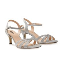 Paradox London Pink Shelby strappy glitter sandals