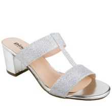 Paradox London Pink H-bar sandal with block heel sandals