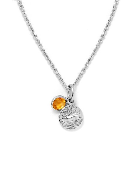 Gemporia Citrine sterling silver pendant necklace