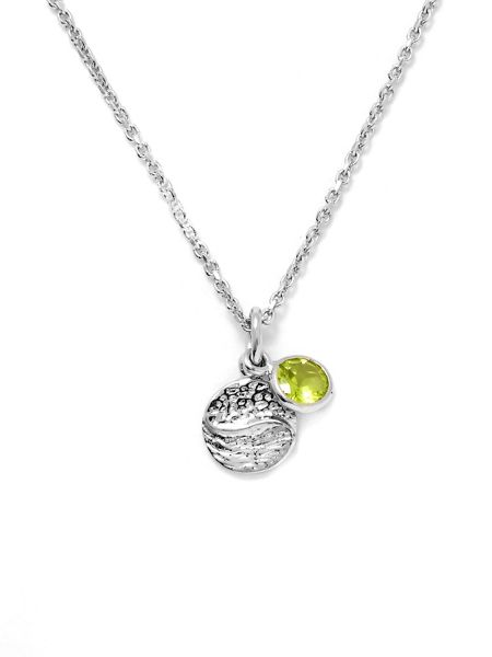 Gemporia Hunan peridot sterling silver necklace